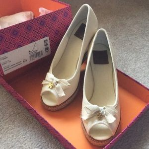 Tory Burch Wedge Shoes - still with tag, worn once